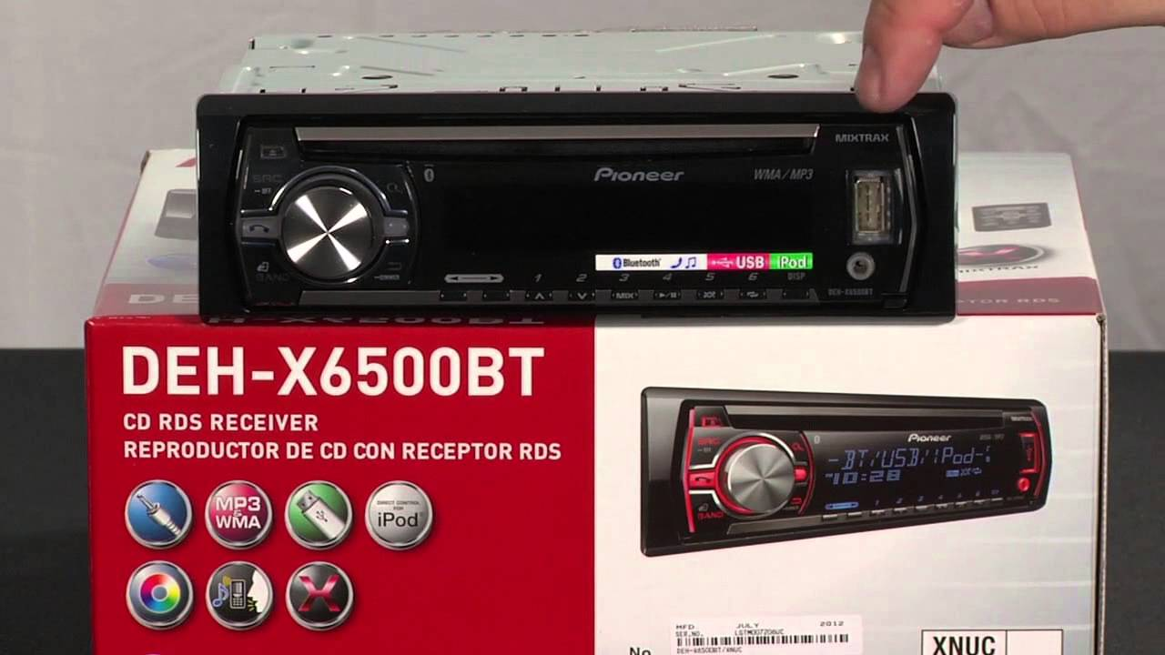 hight resolution of what s in the box deh x6500bt in dash cd receiver youtube