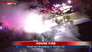 TEMPE HOUSE FIRE: Homeowner makes it out OK near Rural & Broadway (FNN)