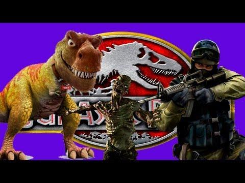 Jurassic Park no Zombie Escape do Counter Strike Source?