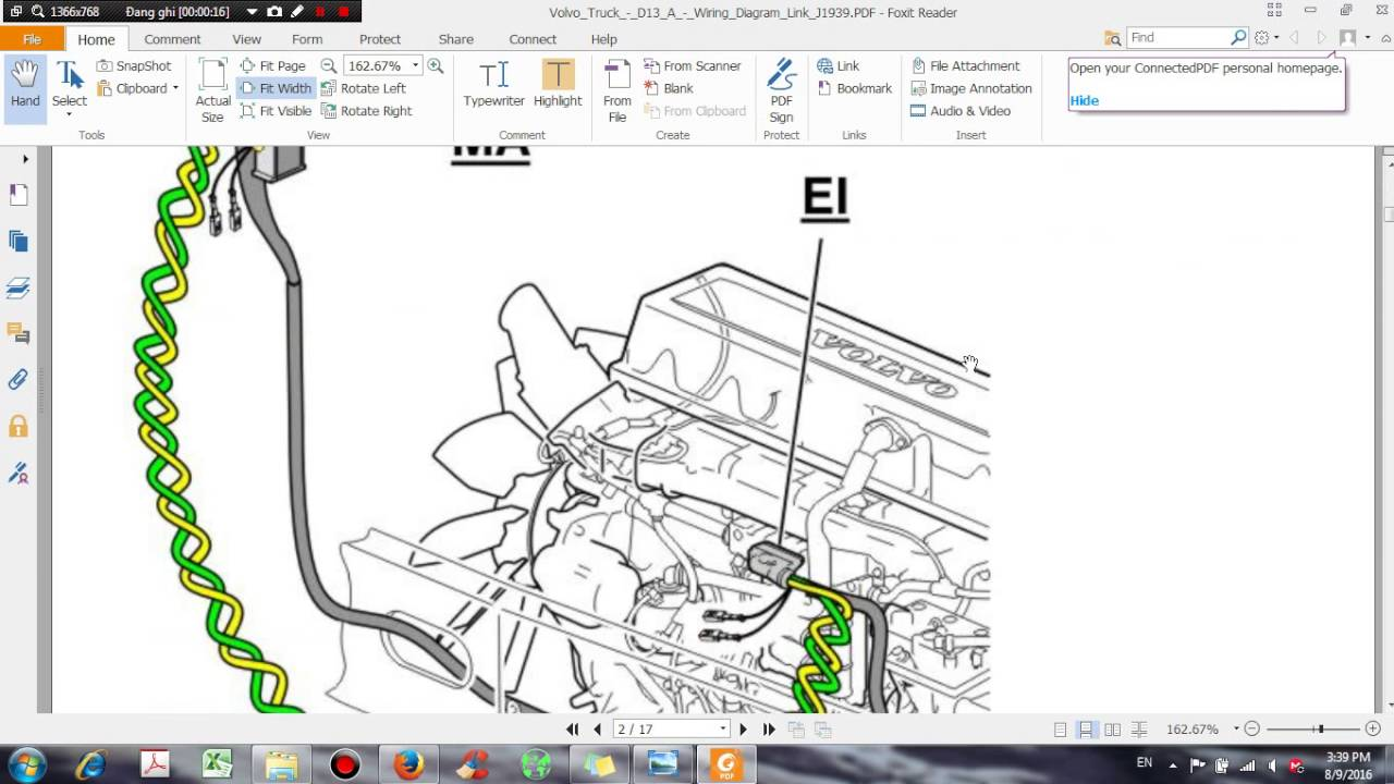 1995 Kenworth Wiring Diagram Schematics Diagrams Engine Fan Volvo Truck D13 A Link J1939 Dhtauto Com Youtube T600
