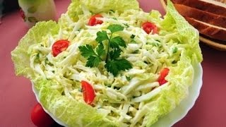 Рецепт салата Овощной салат с творогом