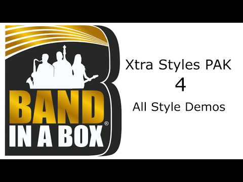 Band-in-a-Box® - Xtra Styles PAK 4 Demos