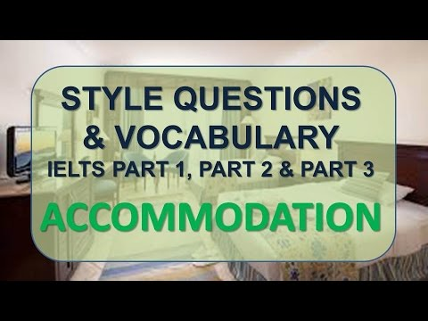 IELTS Speaking part 1, part 2, part 3 with vocabulary | Topic: Accommodation