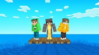 SURVIVING On A RAFT In The OCEAN! (Minecraft)