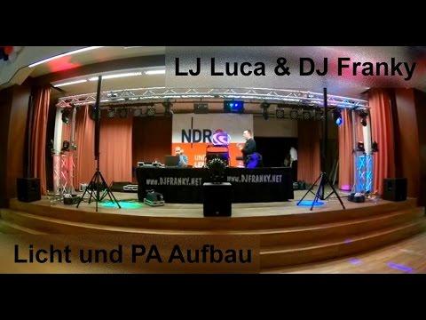 Licht & PA Aufbau - NDR2 Silvester Party 2015/2016 - Zeitraffer - DJ Franky Göttingen