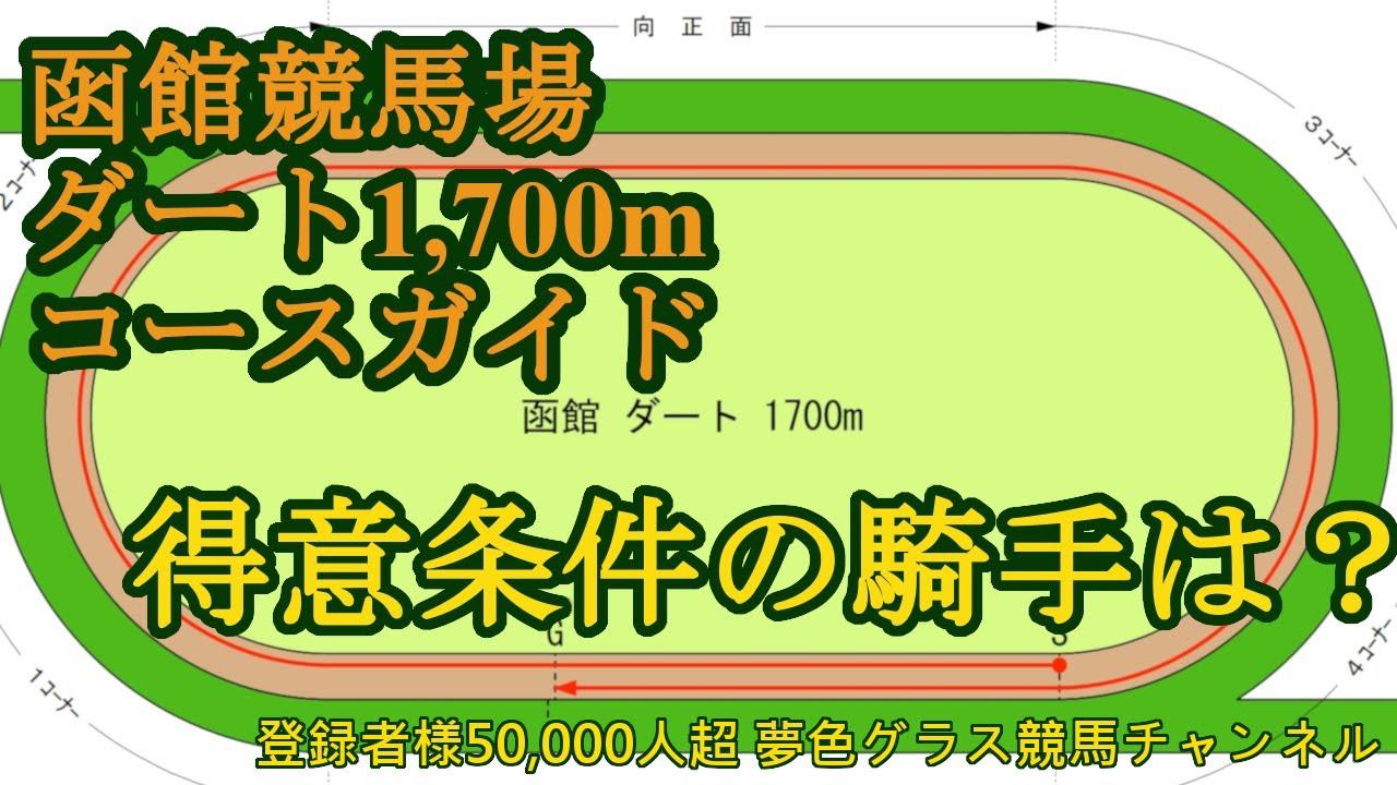 函館競馬場ダート1,700mコース攻略!〇枠が馬場状態問わず好成績!得意にしている騎手は?