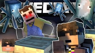 THE NEIGHBOR IS A SQUID?! (Minecraft Mod Roleplay Stories!)