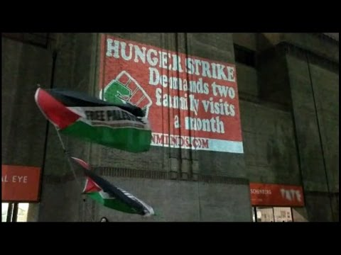Tate Modern an Inminds display in support of Palestinian hunger striking prisoners 6th May 2017