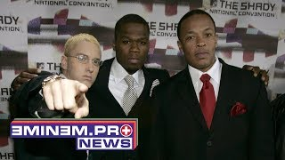 Dr. Dre continues work on Detox, Eminem's River video premiere & anniversary of 50 Cent's best album