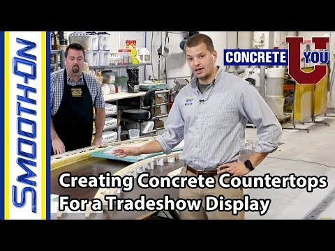 Creating New Concrete Countertops for an Updated Trade Show Display