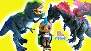 JURASSIC WORLD Лол Панки против Динозавра! Видео для детей! Мультик с  Динозаврами
