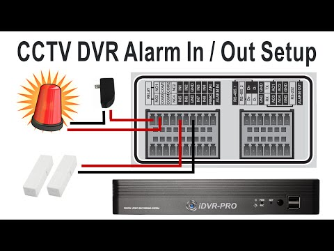 CCTV DVR Alarm Input / Alarm Relay Output Setup