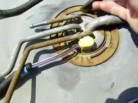 hqdefault replace a fuel pump in a 1995 gmc 5 7 youtube 97 silverado fuel pump wiring diagram at gsmx.co