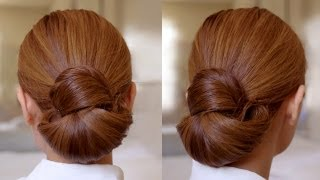 Repeat youtube video Hair Tutorial: Easy Elegance Hair Bun