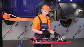 Cum se inlocuiesc discurile de frână din față si saboți de frână din față pe VW TRANSPORTER T4