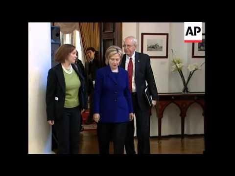 WRAP Clinton, Lavrov presser, comments on Iran, sanctions