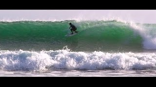 Surfing at Pleasure Point. Santa Cruz, CA  8mm Flim