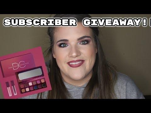 Dominique Cosmetics | Subscriber Giveaway thumbnail