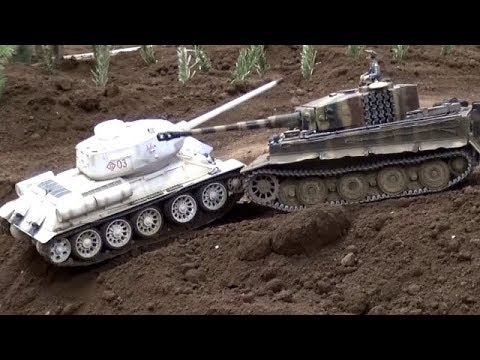 Tiger Tank vs T-34 RC ...