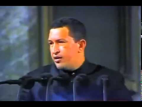 Hugo Chavez speaks at the University of Havana on his first visit to Cuba
