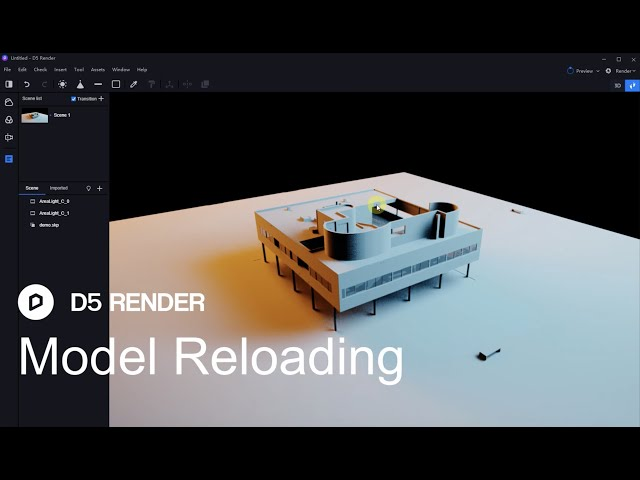 D5 Render 1.6 | Model Reloading/sync files