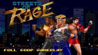 Streets of Rage Full 2P Co op Gameplay Walkthrough Longplay