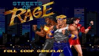 Streets of Rage Full 2P Co op Gameplay Walkthrough Longplay