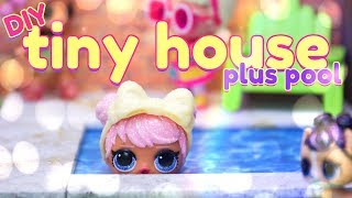 Diy - How To Make: Mini Doll Tiny House With Pool And Free Printables