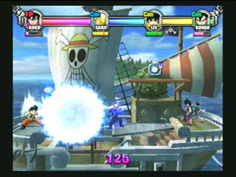 D.O.N Battle Stadium . Goku Vs Sanji Vs Lee Vs Gohan