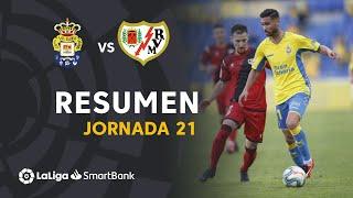 Resumen de UD Las Palmas vs Rayo Vallecano (1-1)