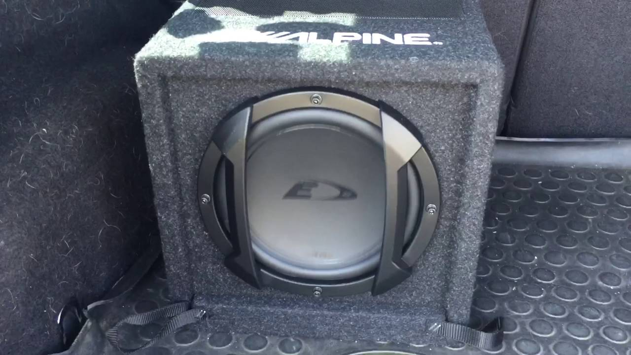 alpine swe 815 active subwoofer youtube. Black Bedroom Furniture Sets. Home Design Ideas