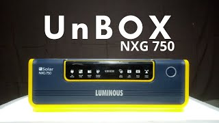 Luminous Solar NXG 750 Hybrid Inverter Unbox Features. Connection & Installation🔥