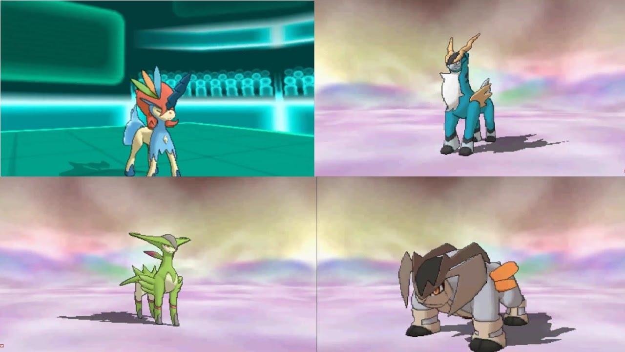 Pokemon Keldeo vs Cobalion vs Virizion vs Terrakion - YouTube