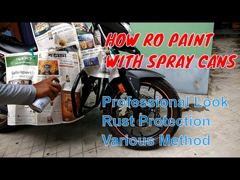 How to Paint With Aerosol spray cans