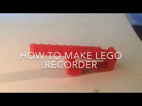 How To Make A LEGO Recorder!