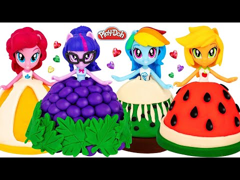 How To Make Play Doh Fruit Dresses For My Little Pony Dolls DIY