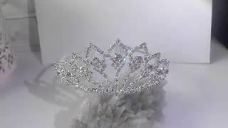 Тиара за коса с белгийски кристали- World's Queen от Absoluterose.com
