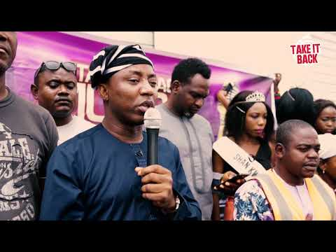 Presidential Aspirant, Omoyele Sowore Visits Internally Displaced Persons' Camp In Benue