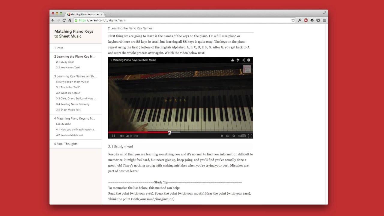 Matching Piano Keys To Sheet Music Youtube