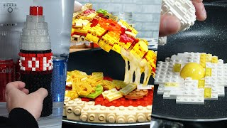 Lego In Real Life 5 Episodes - Chocolate Cake / Stop Motion Cooking  ASMR