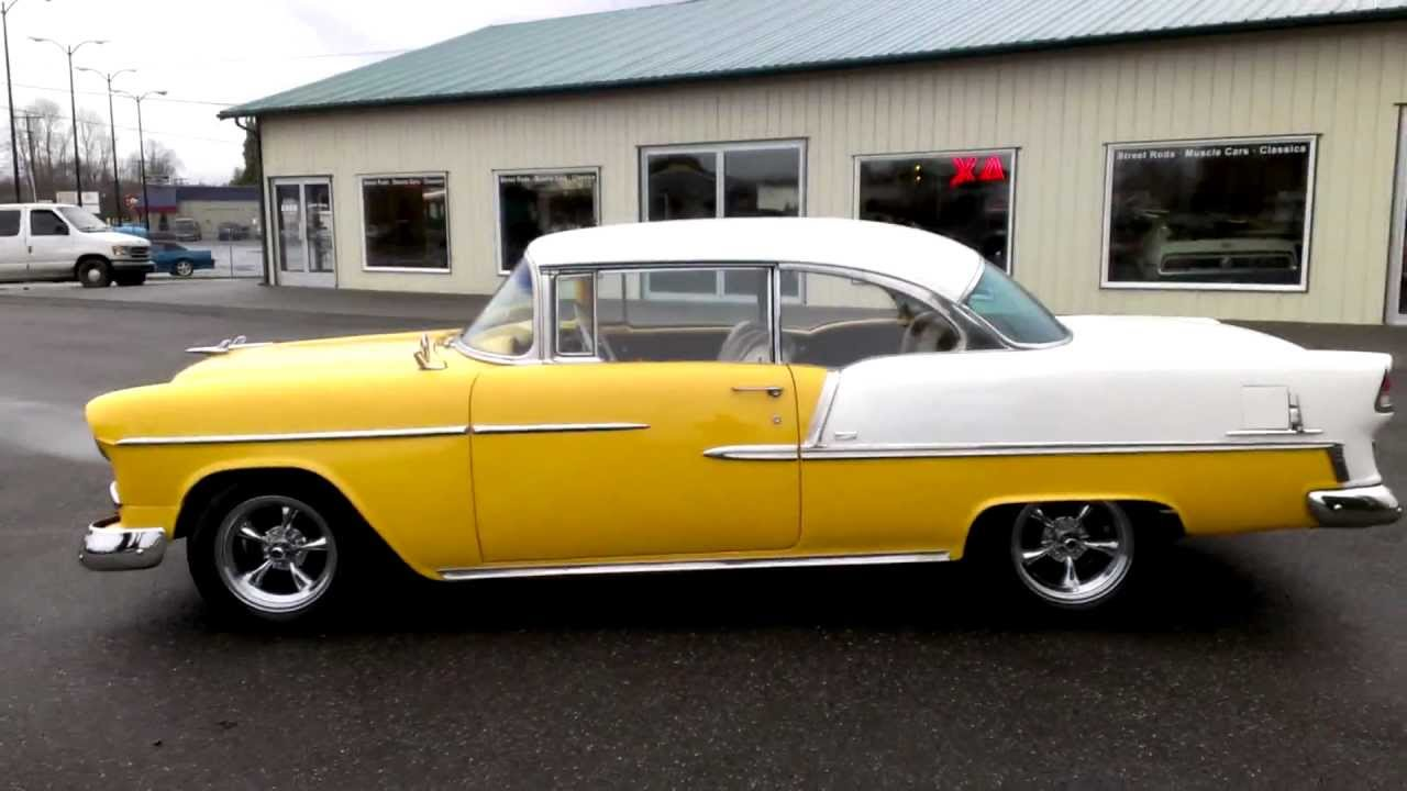 All Chevy 55 chevy for sale : 1955 Chevy Bel Air 2 dr hard top - YouTube