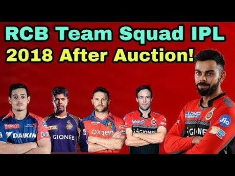 IPL 2018: Royal Challengers Bangalore (RCB) Team Squad After Auction | Cricket News Today