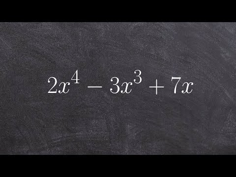 Factoring out the gcf to a prime polynomial