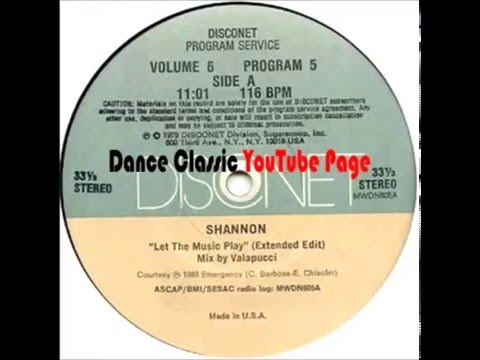 Shannon - Let The Music Play (Disconet USA Extended Edit)
