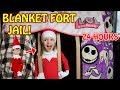 REAL LIFE Elf on the Shelf goes to BLANKET FORT JAIL for 24 HOURS! L.O.L. Surprise & Ryan World Toys