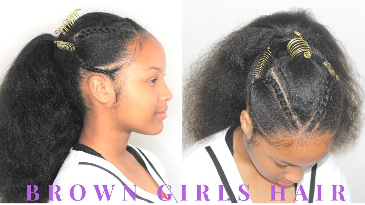 easy hairstyle for teens & big girls