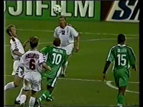 Image result for Nigeria vs Denmark france 98