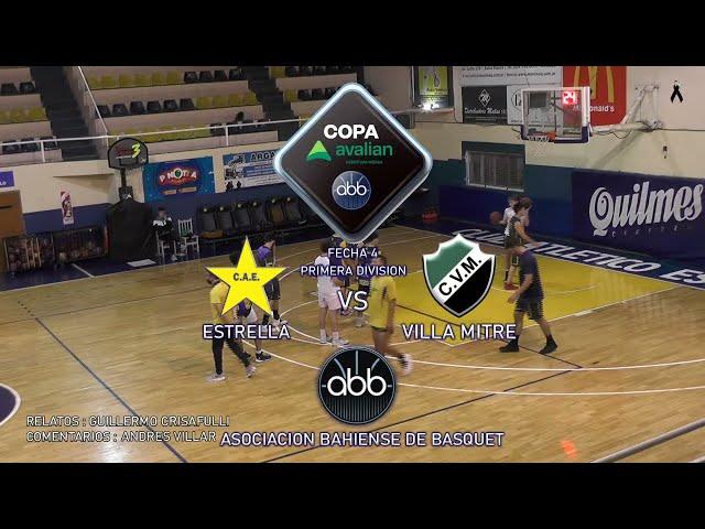 Estrella vs Villa Mitre Fecha 4 - Emisión en directo de Asociación Bahiense de Básquet