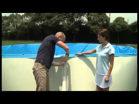 Bestway oval steel wall pool deutsch funnycat tv for Bestway pool bauhaus