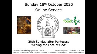 Alloway Parish Church Online Service - Sunday, 18th October 2020